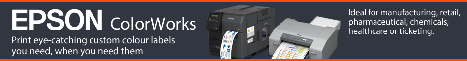 Epson ColorWorks full colour printer range - available from The Barcode Warehouse UK