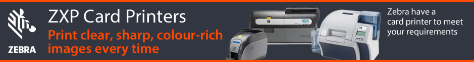 Zebra Technologies ZXP Card Printers available from The Barcode Warehouse UK