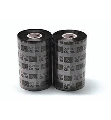 02100BK11045 Zebra 2100 High Performance Wax 110mm x 450m Ribbon