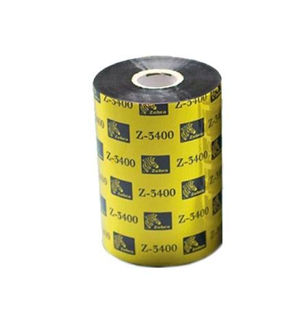 03400BK11045 Zebra High Performance Wax/Resin 3400 110mm x 450m Ribbon