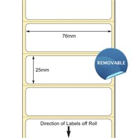 TB00616108 - 76 x 25mm TT Polypropylene Permanent Adhesive Label