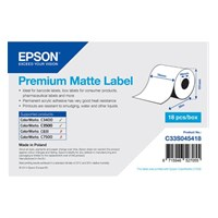 C33S045418 - Premium Matte Label Roll, Continuous Label (76mm x 35m)