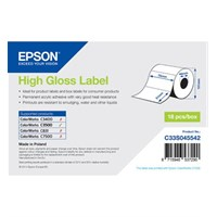 C33S045542 - High Gloss Label Roll, Die-Cut label (76mm x 51mm)