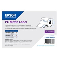 C33S045549 - PE Matte Label Roll, Die-Cut Label (102mm x 152mm)