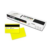 YL76-A-H27-S - 85.60 x 53.98mm Yellow Colour Cards With Hi-Co Magnetic Stripe & Signature Panel (Box Of 500)
