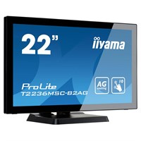 "Iiyama T2236MSC 22"" 10 point touch monitor with edge-to-edge glass and Anti Glare coating"