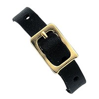 Leather attachments, Black, 100 Per Pack