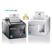 Star TSP100IIILAN New fast, 80mm entry-level thermal Ethernet POS printer with LAN connectivity