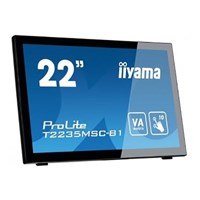 "Iiyama T2235MSC-B1 22"" 10 Point Multi-Touch Monitor With Edge to Edge Glass"