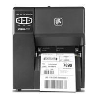 Zebra ZT220 affordable label printer with simple three button interface