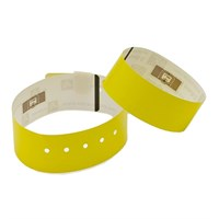 10018344K - Yellow 30 x 279 mm non-printable waristband, Polyprop