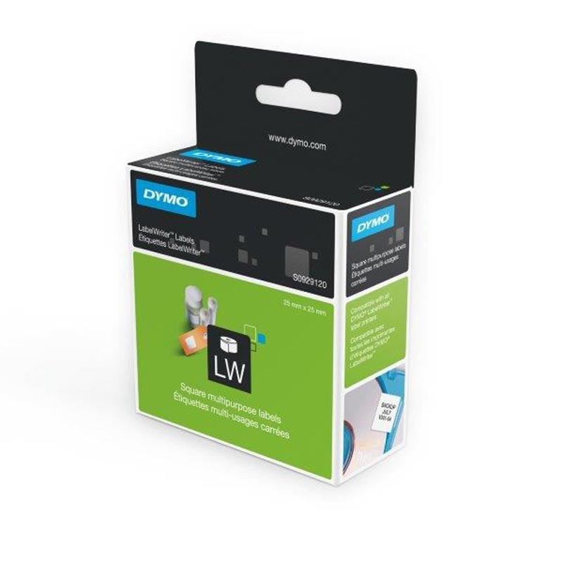S0929120 - 25mm x 25mm Square Multipurpose Labels