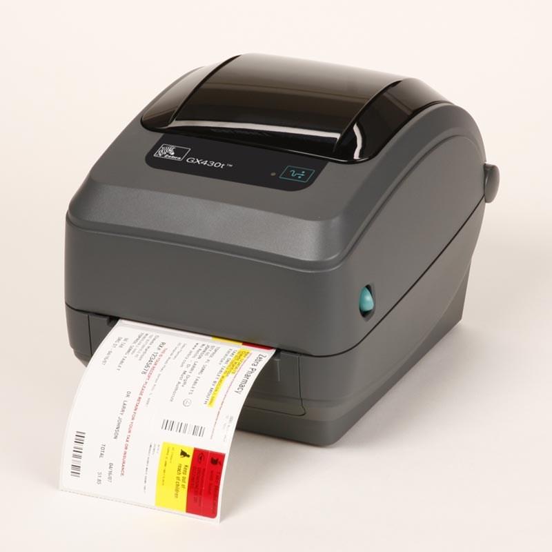 buy zebra gx430t 300 dpi thermal transfer desktop label printer