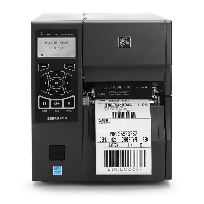 Zebra ZT410 Industrial Label Printer with 4-inch Print Width
