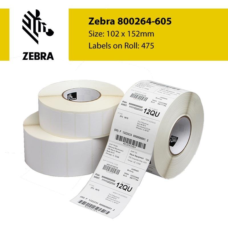 Zebra 800264-605 Z-Select 2000D 102mm x 152mm Paper Label ...