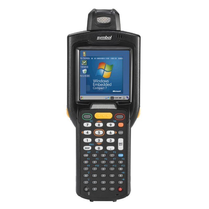 Zebra MC3200-R Android or Microsoft Embedded Compact 7 Mobile Computer in  rotating turret form-factor